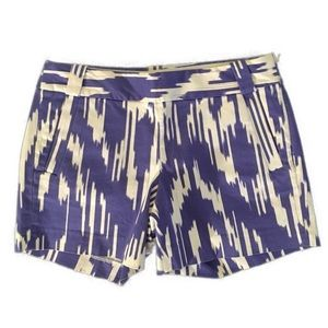 J. Crew Cream & Purple Ikat Women's Shorts 2
